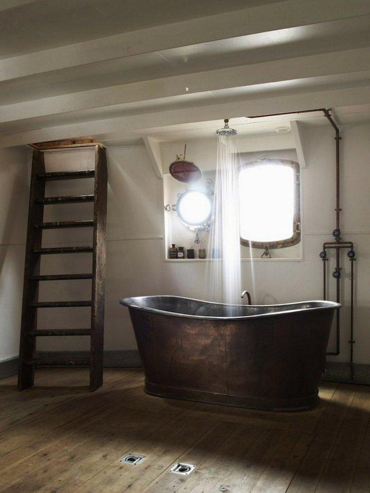 modelos baños estilo industrial rustico