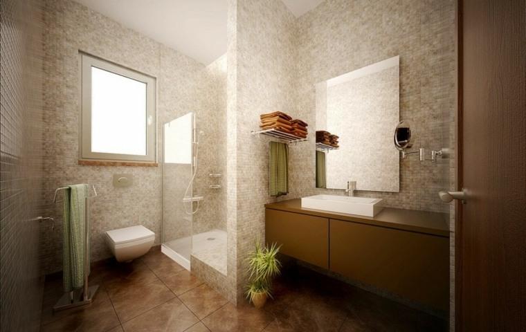 modelos paredes bano mosaicos