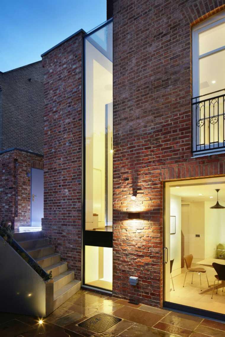 modernas exteriores ideas paredes lineas