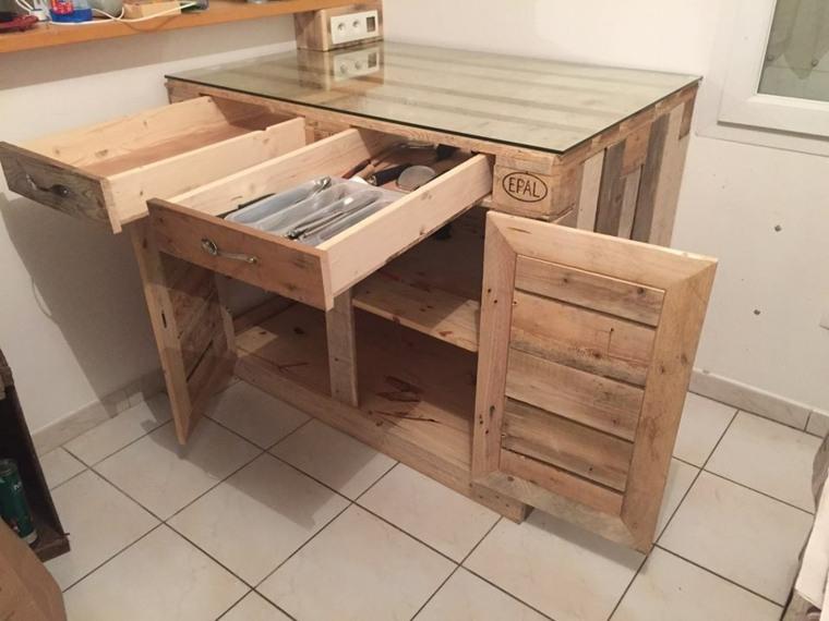 Europalet 42 ideas estupendas para muebles diy for Muebles cocina madera