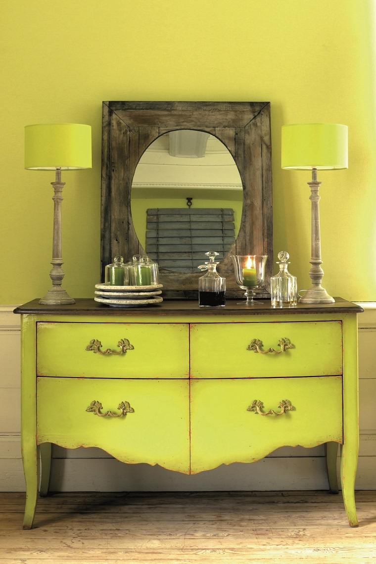 mueble estilo provenzal color verde ideas