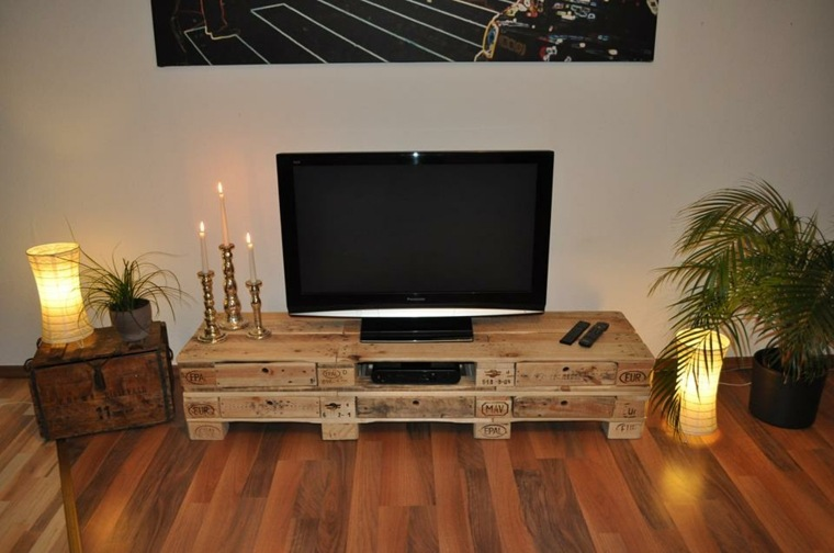 mueble tv de madera