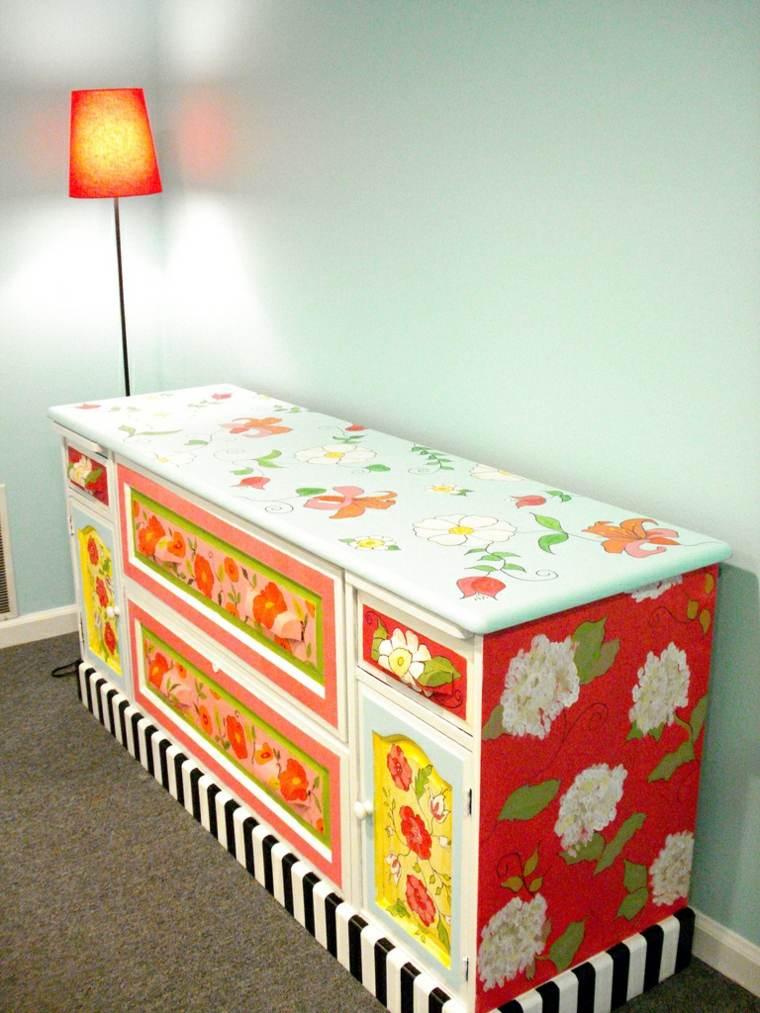 muebles coloridosreciclados derorar casa ideas