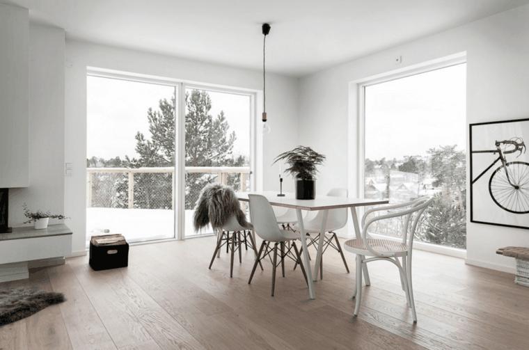 muebles comedor nórdicos sillas eames
