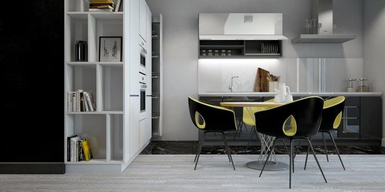 muebles espaciales cocina moderna almacenamiento
