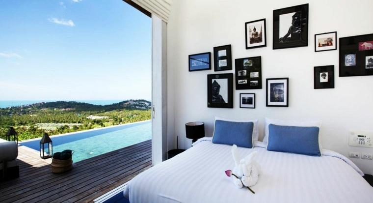 mural de fotos dormitorio