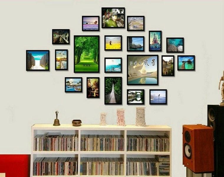 mural de fotos salón