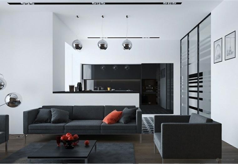 negro cojines rojo muebles alfombra