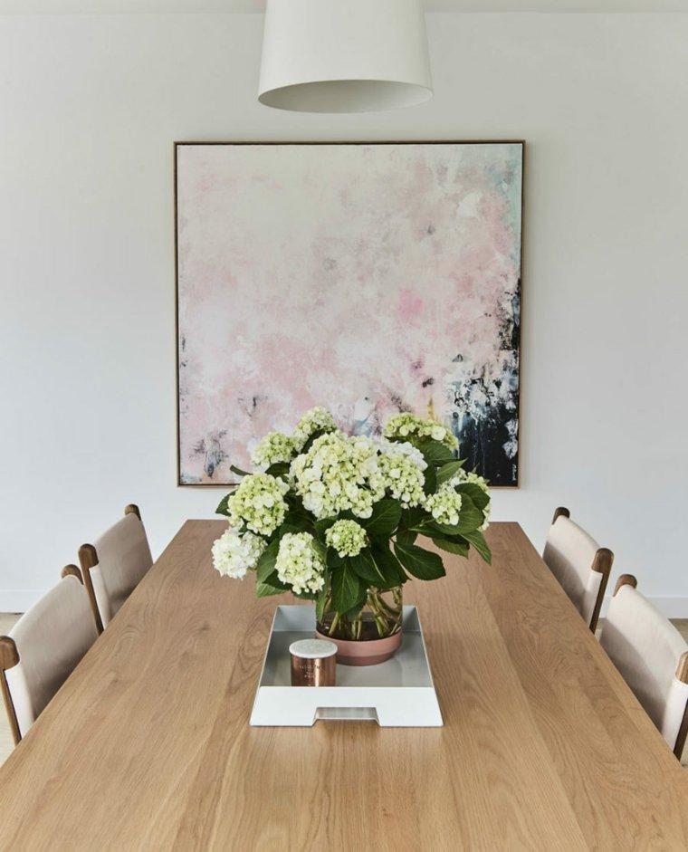 Obras de arte para decorar el comedor 24 fotos inspiradoras - Cuadros salon comedor ...