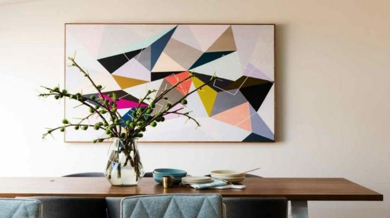 obras de arte abstractas diseno geometrico ideas