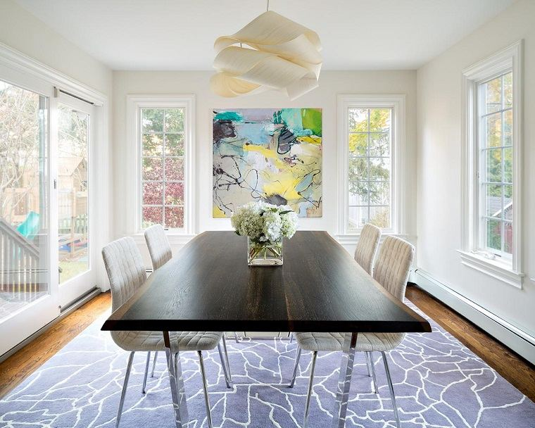 obras de arte comedor diseno claire paquin luminoso espacio ideas