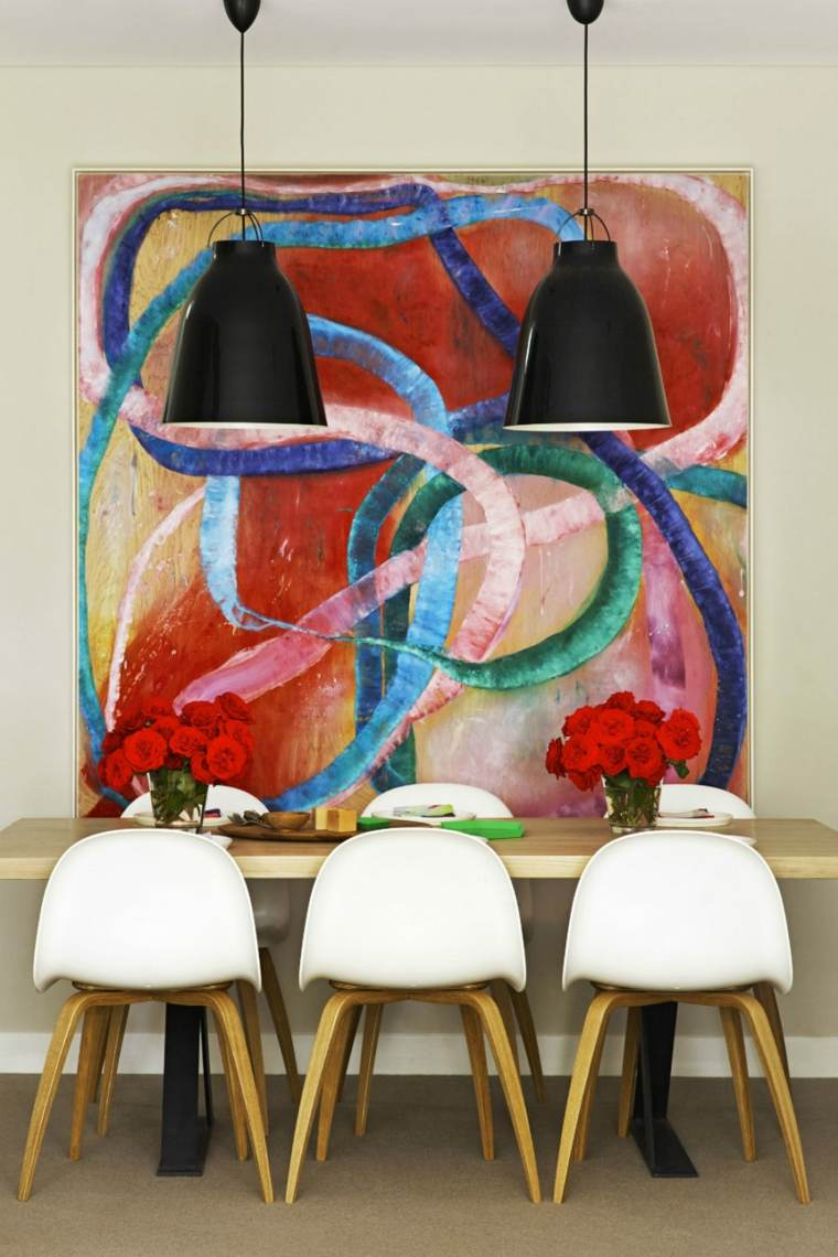 obras-de-arte-decorar-comedor-moderno-diseno