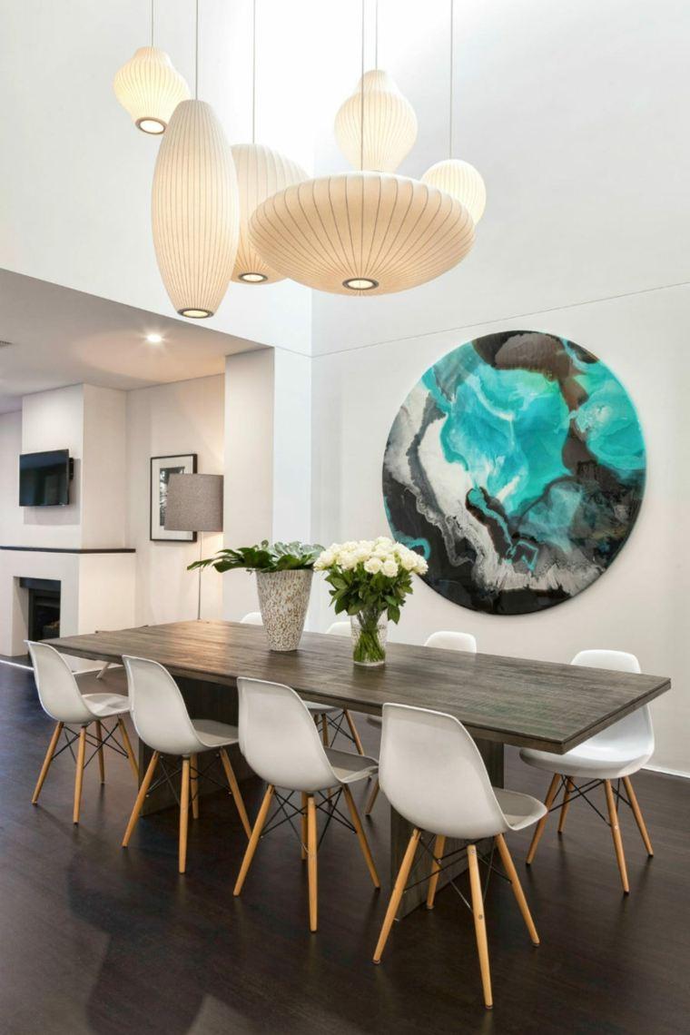 obras de arte marmol pared salon diseno ideas