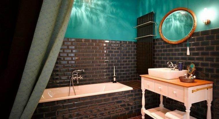 original baño azulejos negros