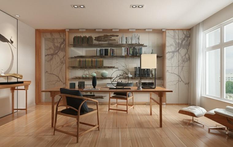 oficina decoracion zen casa muebles