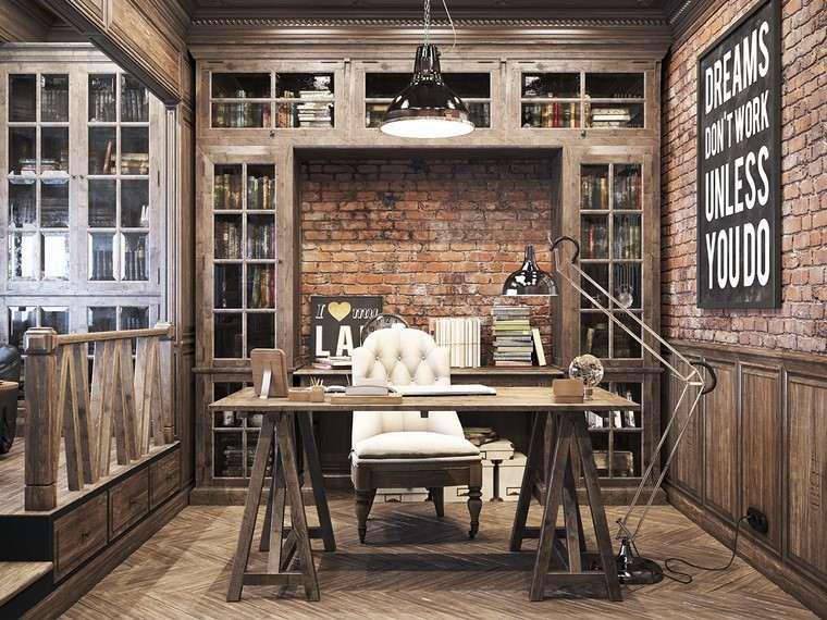 oficina estilo vintage diseno moderno original ideas
