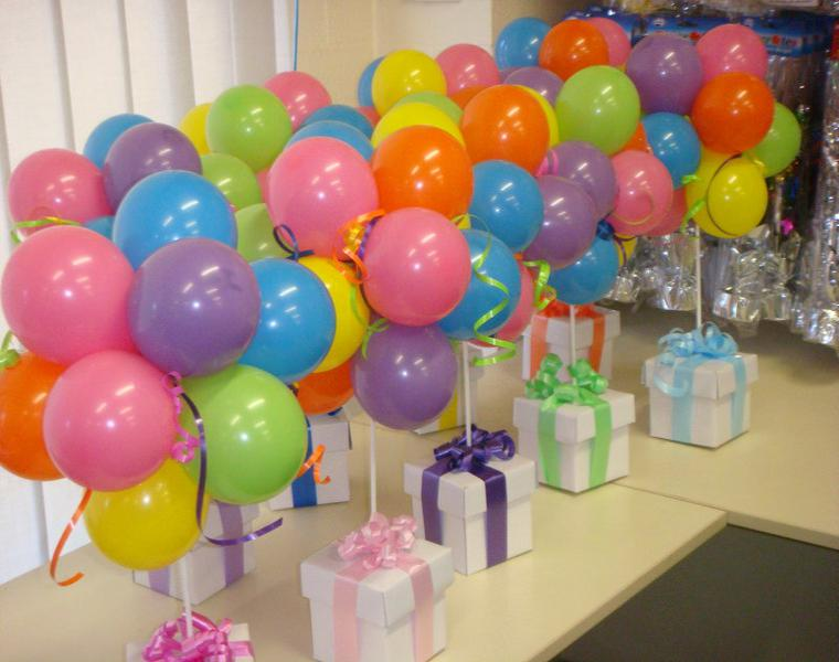 Adornos con globos ideas geniales para decorar una fiesta for Decorar regalos