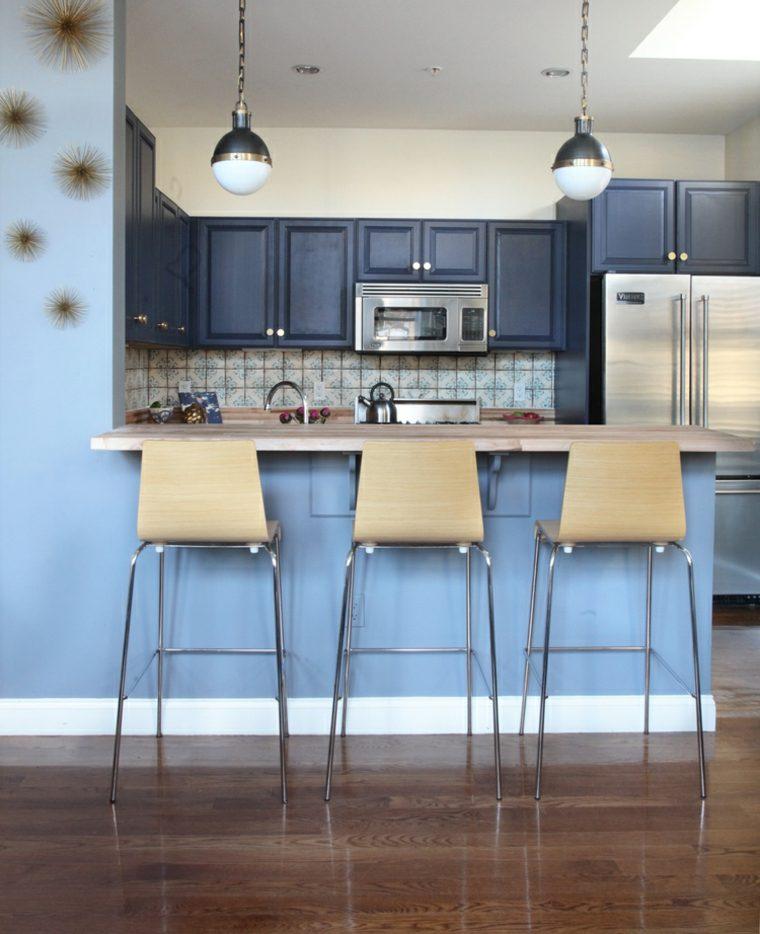 original mini cocina color azul