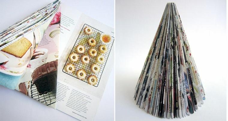 original abeto navideño papel revista