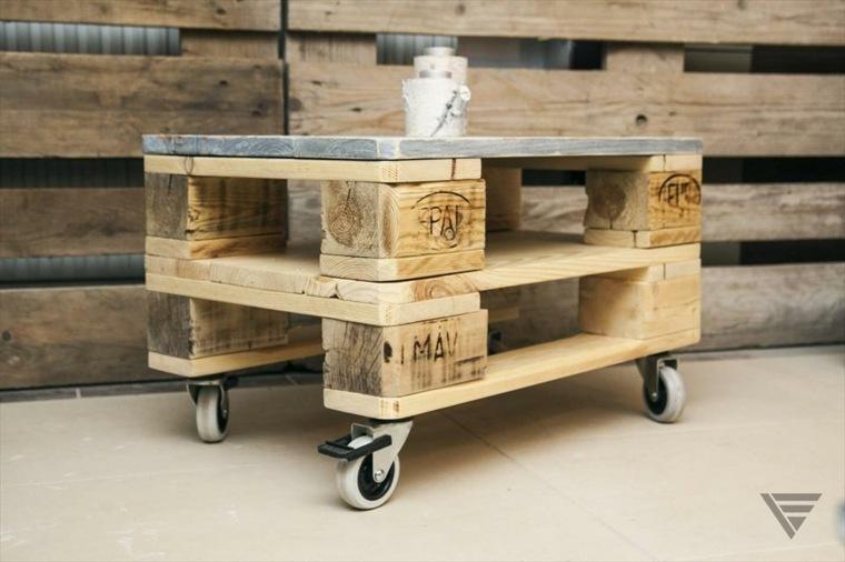 original taburete madera ruedas