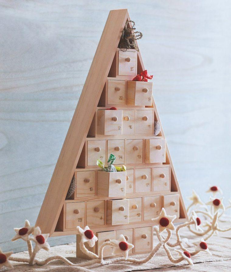 original abeto navideño cajones regalos