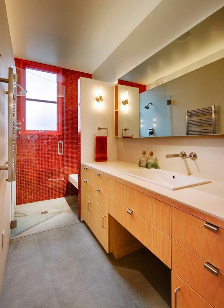 original baño pared roja
