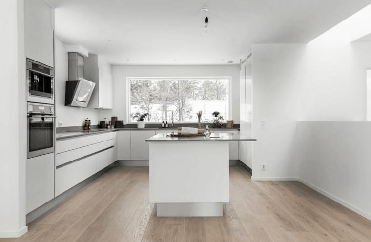original cocina moderna muebles blancos