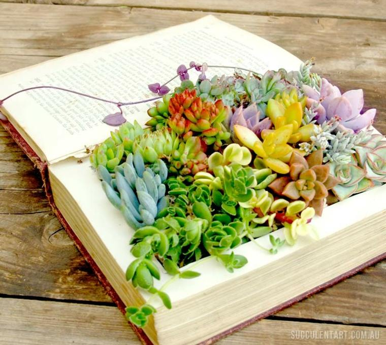 original decoración plantasn libro