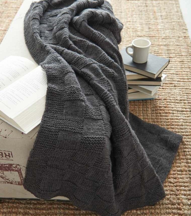 original diseño manta gris