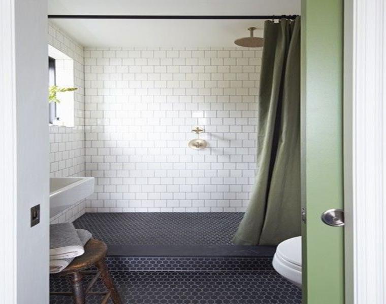 suelo baño azulejos hexgonales