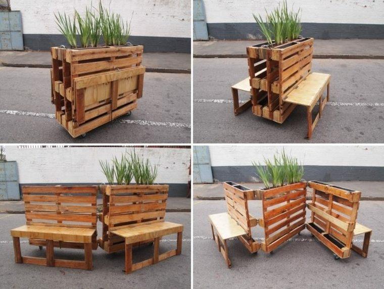 original diseño banco jardinera