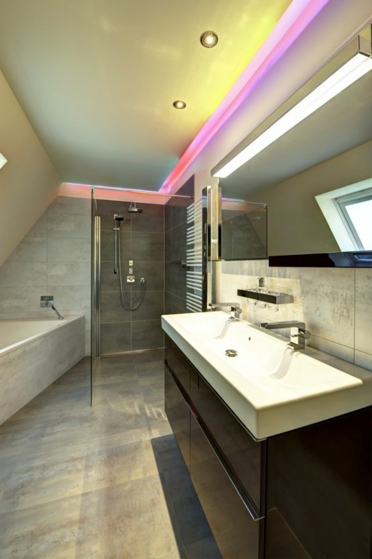 original diseño baño luces led