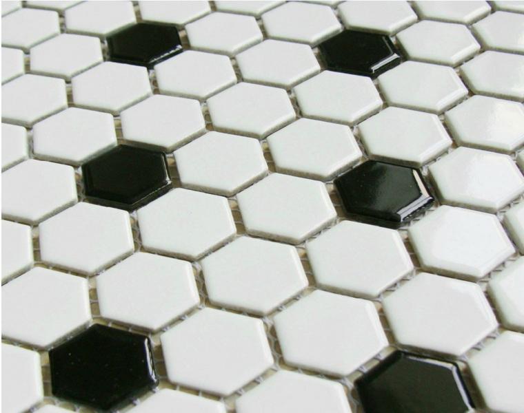 original combinación azulejos hexagonales