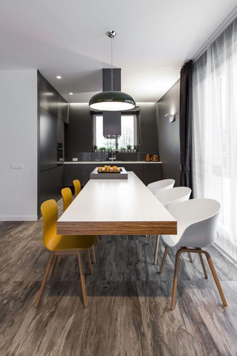 Interiores modernos e inspiradores de estilo minimalista - Muebles de comedor de diseno ...