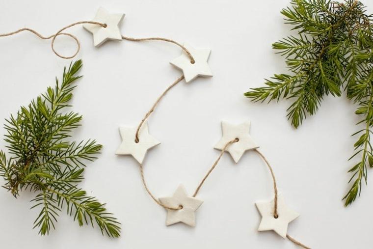original guirnalda Navidad estrellas cuerda