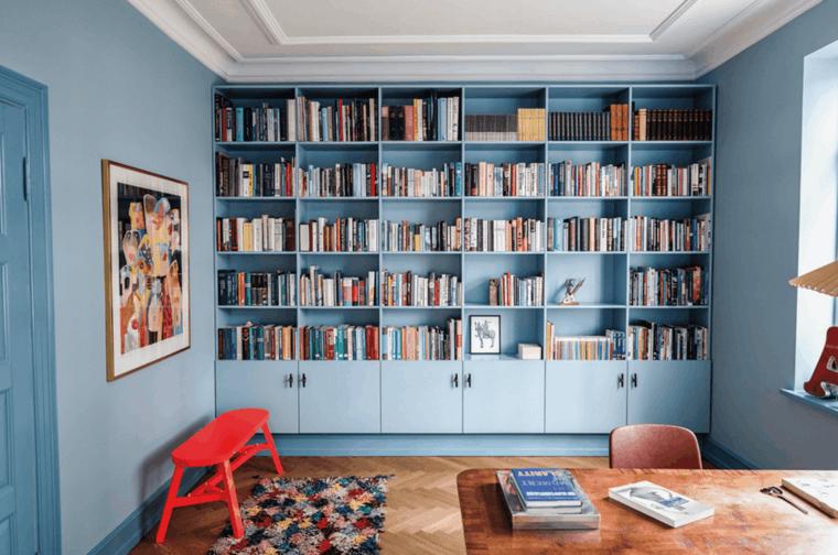original diseño interior biblioteca azul