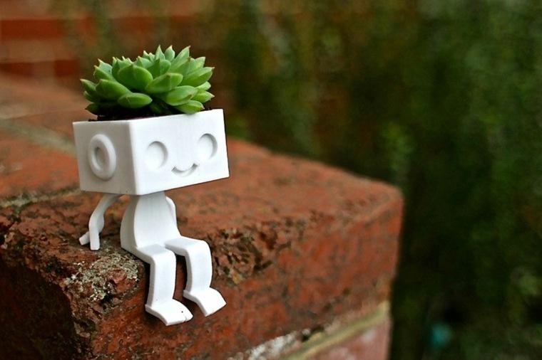 original muñeco planta suculenta