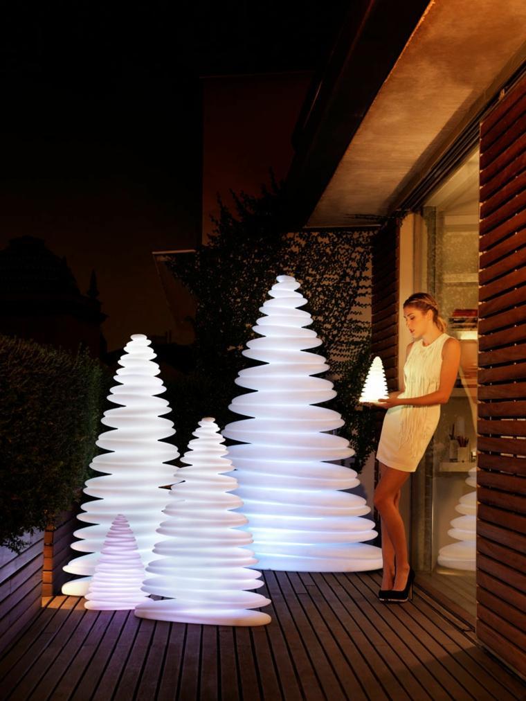originales abetos luces navidad