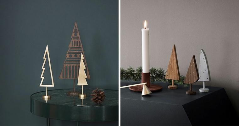 originales árboles minimalistas madera