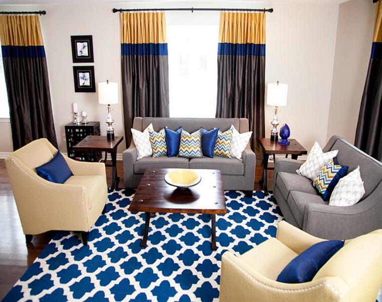 originales cortinas salón colores