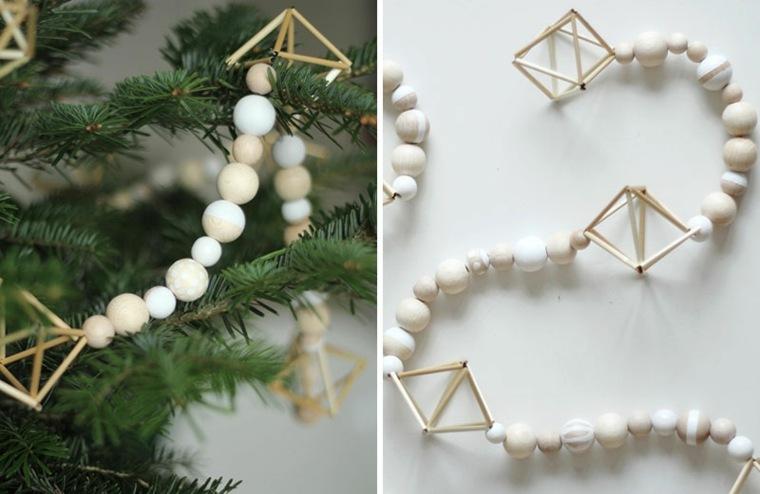 originales guirnaldas navideñas bolas collares