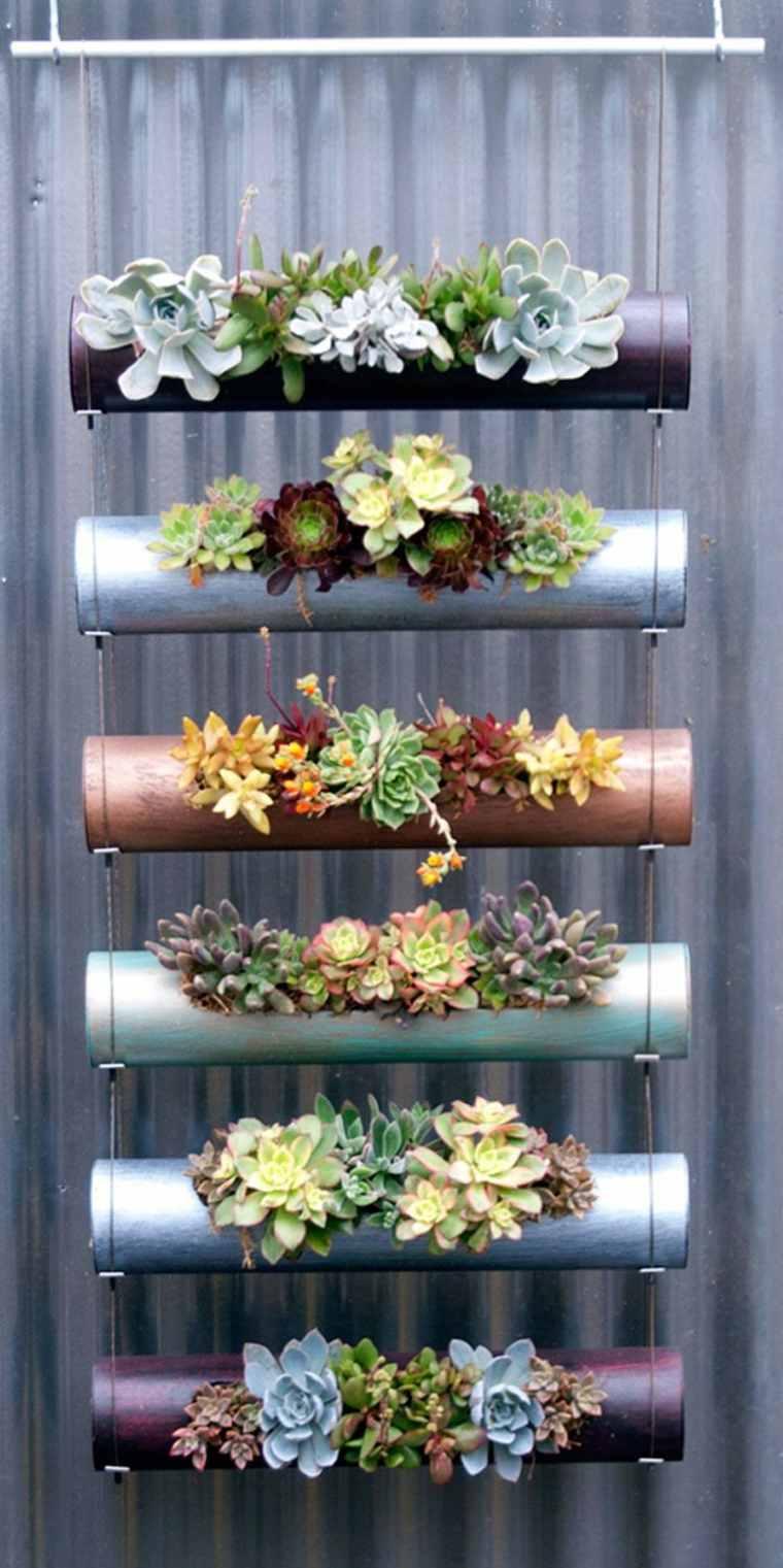 maceteros plantas suculentas