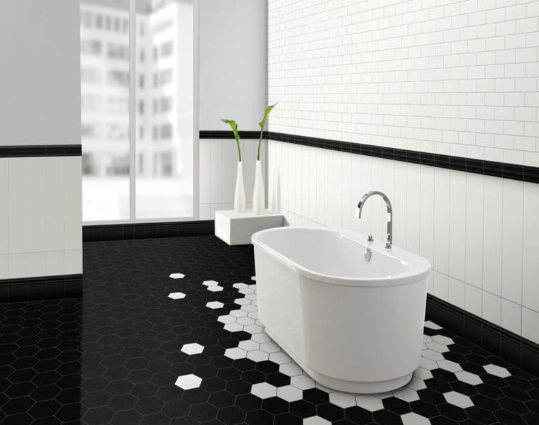 originales azulejos baño moderno