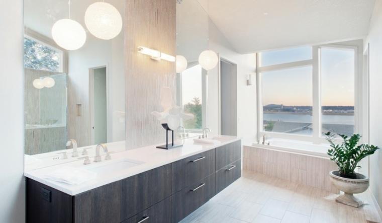 Modelos de cuartos de baño modernos - 42 diseños