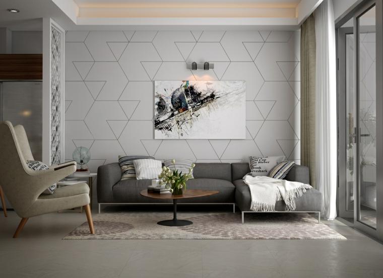 paleta gris geometricas formas sillas
