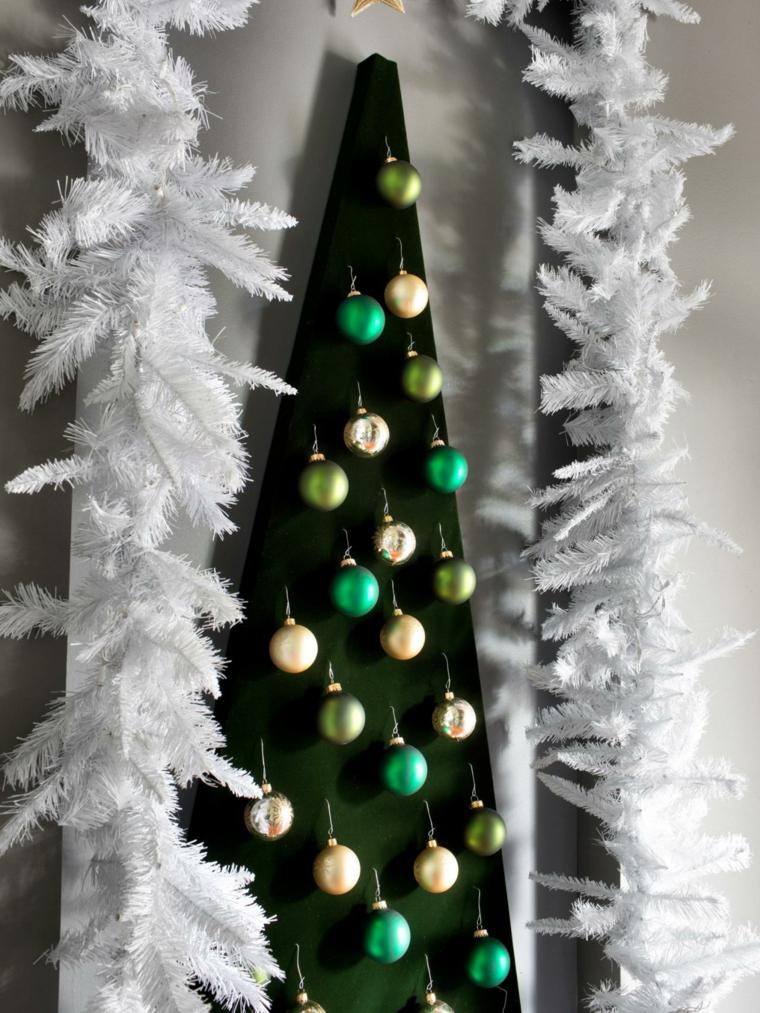 panel bolas colgantes navidad pared