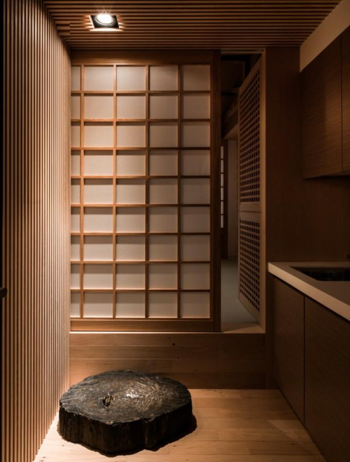 paneles japoneses separador bano led