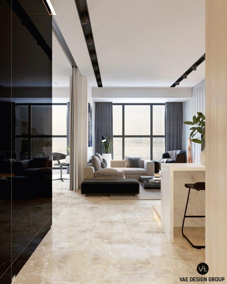 paredes lacadas minimalista apartamento muebles