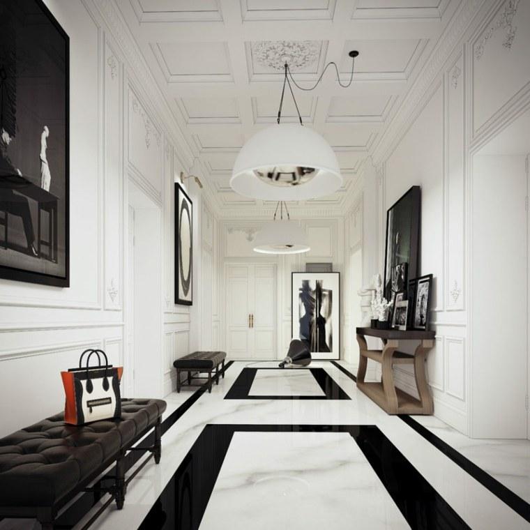 pasillo diseño mármol estilo lujoso