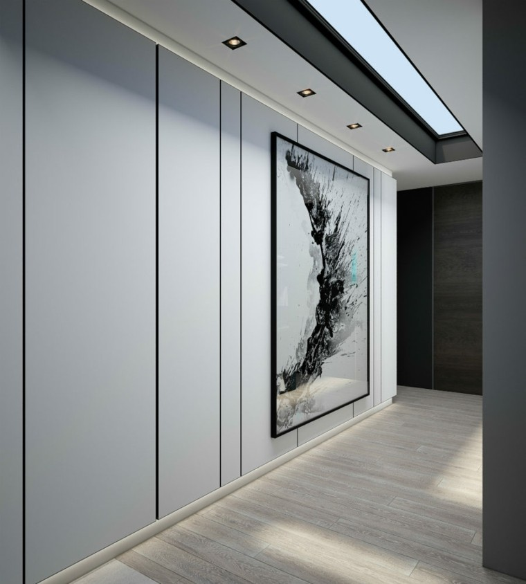 pasillo estilo minimalista obra arte